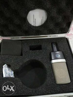 Gray And Black Condenser Microphone With Case