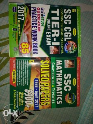Maths Solved Papers Book + SSC previous year practice sets.A