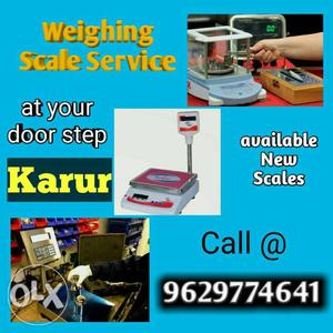 Weighing scale service at your door step. contact