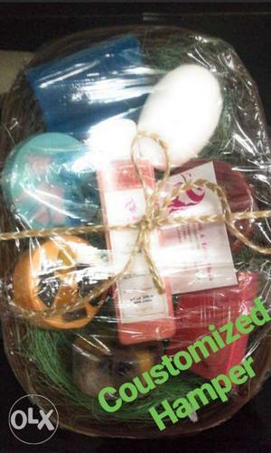 Handmade soap and bathwash gift hamper rs