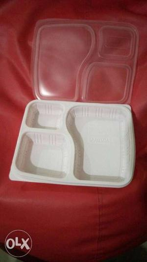 95 pieces,food disposable tray with 3 compartment lunch