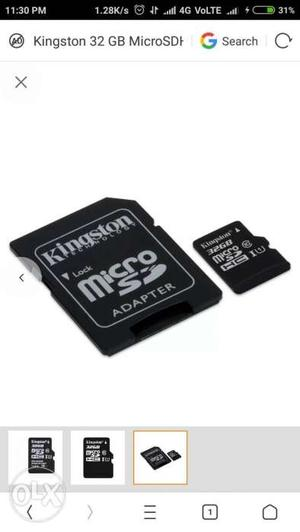 32 gb memory card seel pack and with 800 rs bill