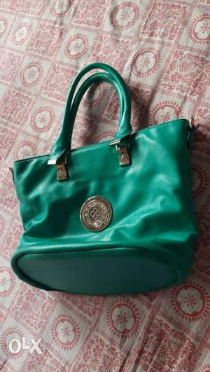 Green color Premium quality bag. made with good