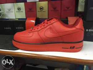 Brand New Red Nike Air Force 1, Sizes: