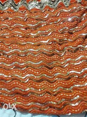 Red And White Chevron Textile