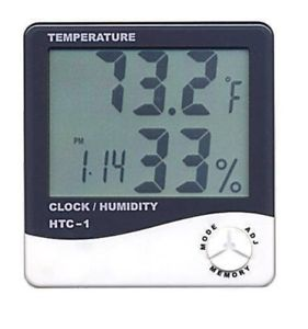 Temperature Humidity Time Display Meter with Clock,Alarm