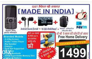Amazing offer buy a key pad mobile with ear
