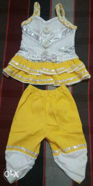 Born Baby Girl 4 New Dresses.. 0 to 6 month..