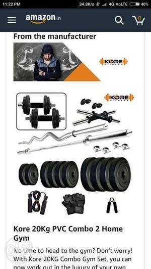 Kore gym instrument for men & women 20 kg all