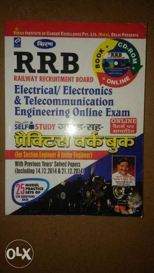 RRB exam preparation book new condition & very