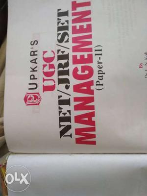 Upkar's UGC Net/JRF/SET Management Textbook