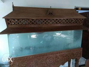 5 X 1.5 X 1 feet aquarium. Fully teak wood