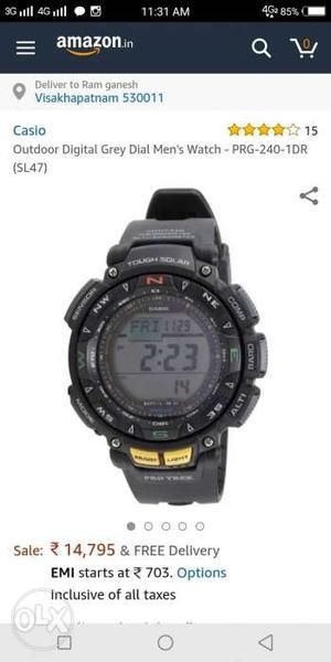 Casio protrek watch.. 1 and half year old..
