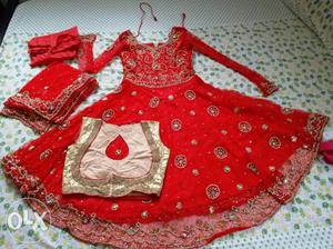 New Anarkali salwar set with overcoat New one never used