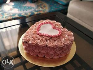 Pure veg heart shaped cake for the special