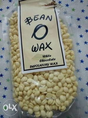 Bean wax..white chocolate.melt it and use it for