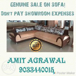 Get the benefits of genuine sale on sofa