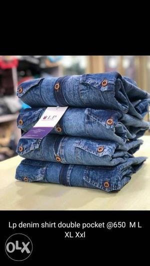 Denim shirt for men M L XL XXL available sizes