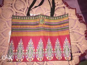 DIY shopping bag made at home by using old kurta