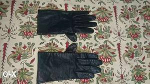 Hand Gloves Pure Leather All Weather Branded With