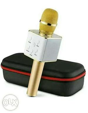 Gold And Silver Wireless Microphone With Black Case