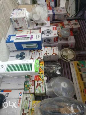 All types of fans available at wholesale price.