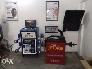 Alignment,Balancing,Tyre changer,Battry boster