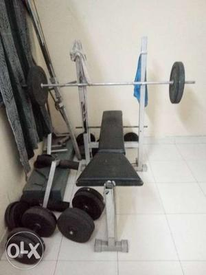 Gym equipments,bench 3 in 1,weight about 70