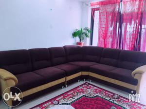 Absolutely new corner sofa, premium fabric, 7