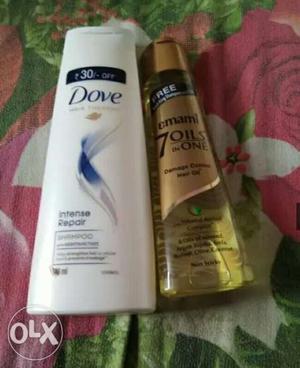 Dove shampoo, Dove soap and emami oil