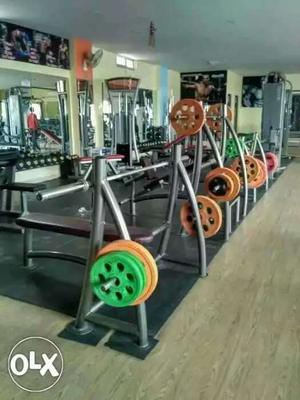 Gray Weight Bench Lot