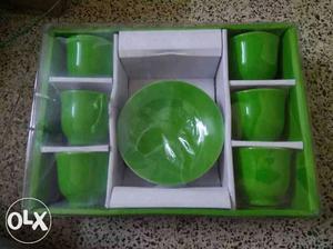 Green Teacup Set