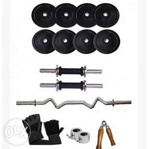 Home gym combo New best quality 2.kg 4 plate. 2