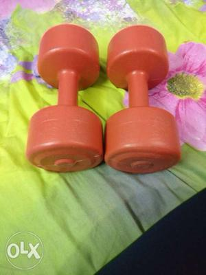 4 Kg dumbells for selling. Its a set of two