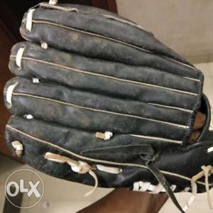 Black And White Leather Baseball Glove