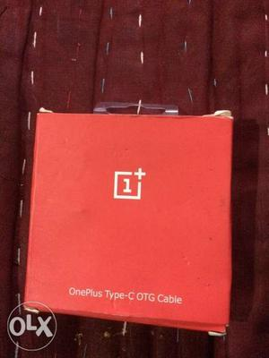 One plus c type usb otg cable with box new