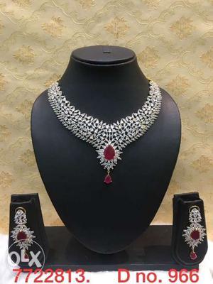 American diamond necklace set(new).