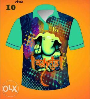Ganpati T-shirts digital print coming soon Fabric
