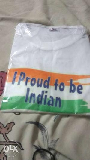 I proud to be indian t shirt 5 pcs 38 size n 5