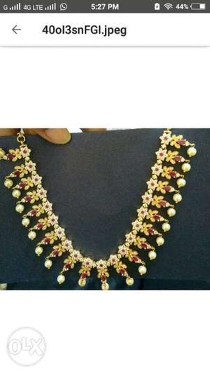 New Cz Fashion Jewellery necklace set with