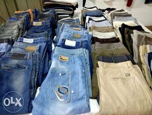 We have all kinds of branded shirts jeans tshirts