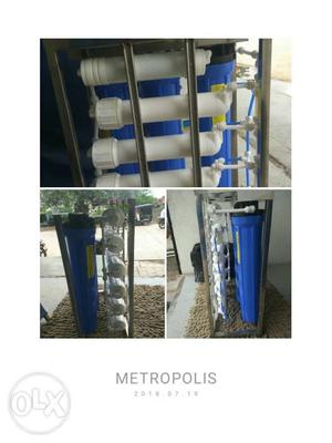 White And Blue Metropolis Water Filter Collage