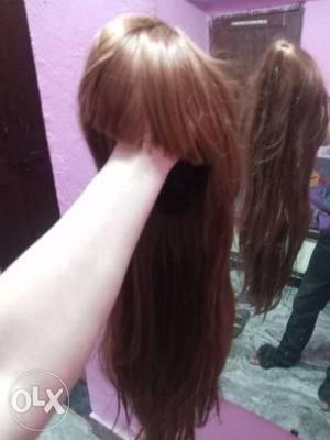 Brown color new unused hair wig for sale..700rs