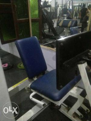 Blue And White Exercise Equipment