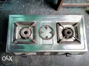 Bajaj 2 burners stainless steel Gas oven.fully