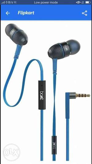 Blue And Black Boat Bluetooth Earbuds Screenshot