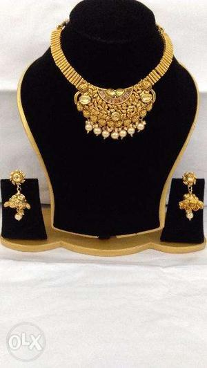 Bollywood Style Indian Traditional Jewellery Necklace Set