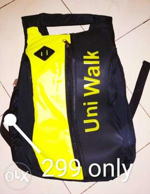 New Bag Black And Yellow Uniwalk Backpack Best quality and