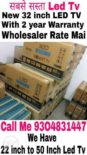 New Seal Pack 32 inch imported Led Tv With 2 Year warranty &