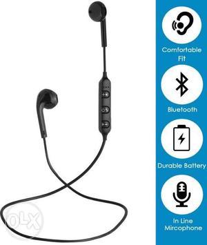 Sport bluetooth earphone brand new seal packed box ke undar